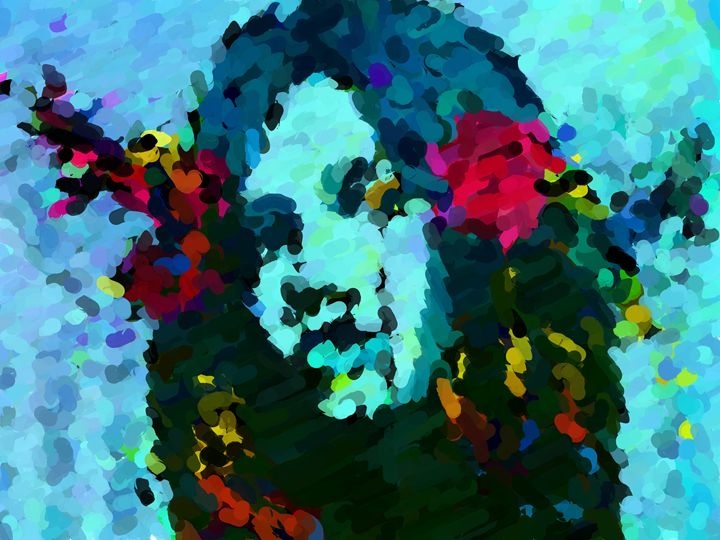 Flowers in her hair - Paintings and prints