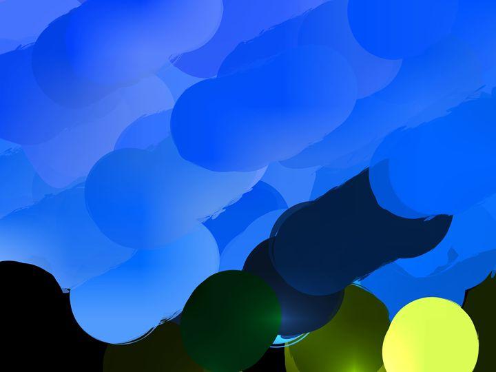 Cloud circles three - Paintings and prints