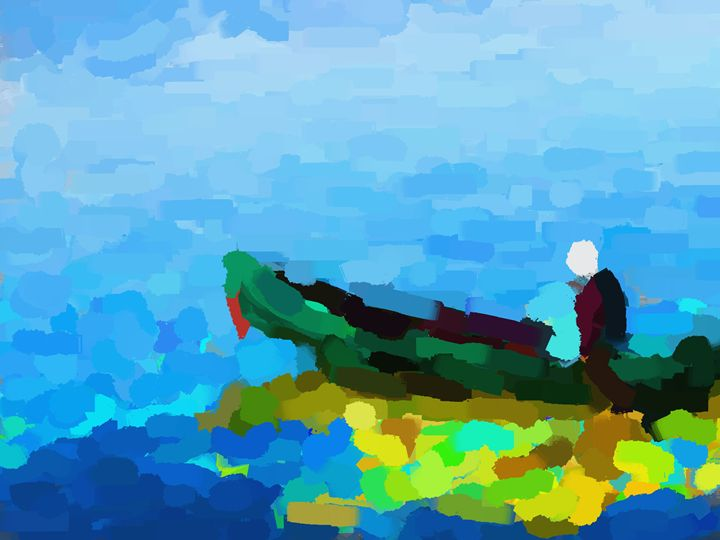 Row the boat - Paintings and prints
