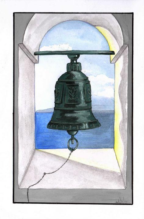 Church Bell in Santorini - Niva Art