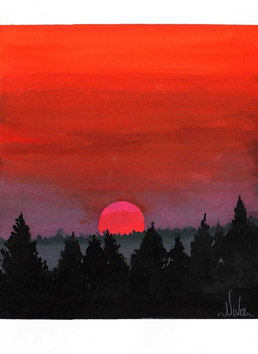 Red sunset - Niva Art