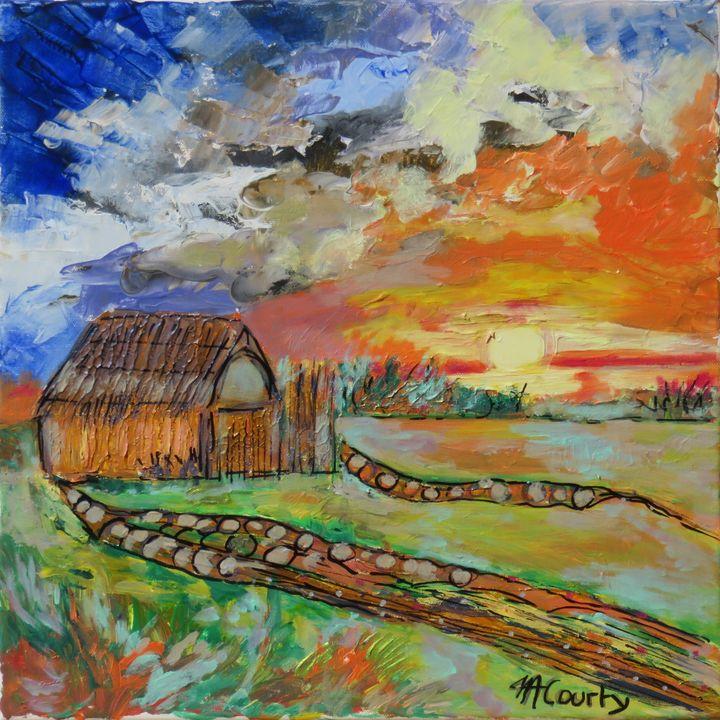 cabane de pecheurs en languedoc - Myriam  Courty paintings