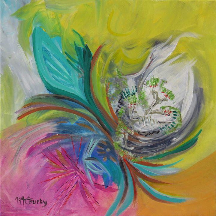 bird - Myriam  Courty paintings