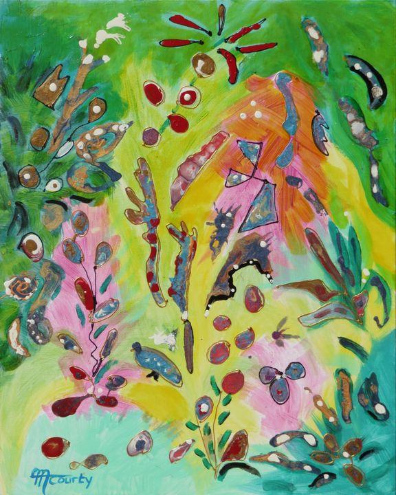jardin merveilleux - Myriam  Courty paintings