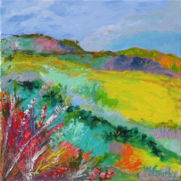 verte colline - Myriam  Courty paintings