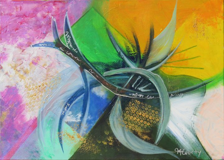 pineapple composition - Myriam  Courty paintings