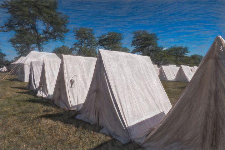 Militia Camp 1812 - Leslie Montgomery