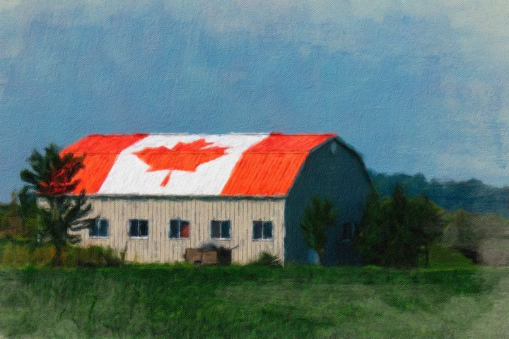 Undoubtedly Canadian Barn - Leslie Montgomery
