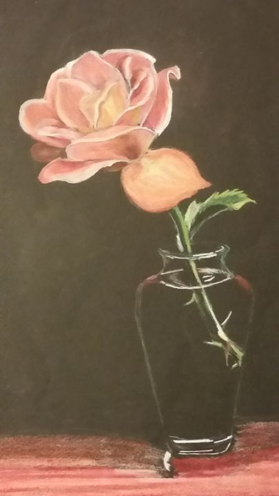 Rose in a Vase - Moore Designs Works