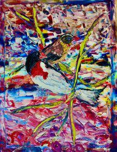 Rose-Breasted Gross Beak Camouflage - Richard J Grasso