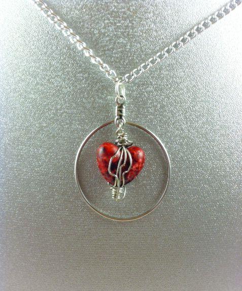Sexy Heart Wire Necklace - Karolejean Design