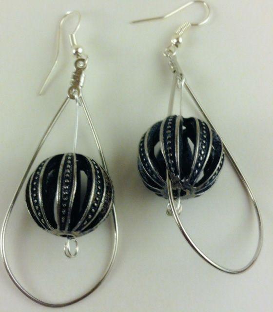 Metal  World Loop Earrings - Karolejean Design