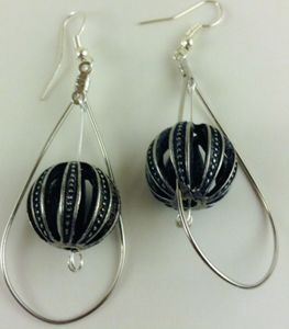 Metal  World Loop Earrings