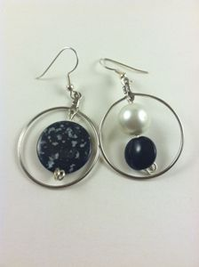 Glamour Girl Black Mixed-up Earrings