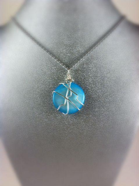 Sea Blue Necklace - Karolejean Design