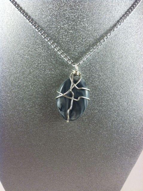 Silver and Black Necklace - Karolejean Design