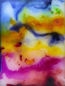 Abstract 010 The Grotto Wax Painting