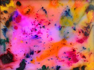 Electric Dreams Wax Painting