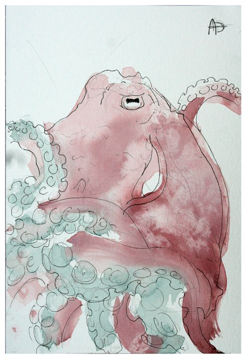 Giant Red Octopus - Alex Diffin