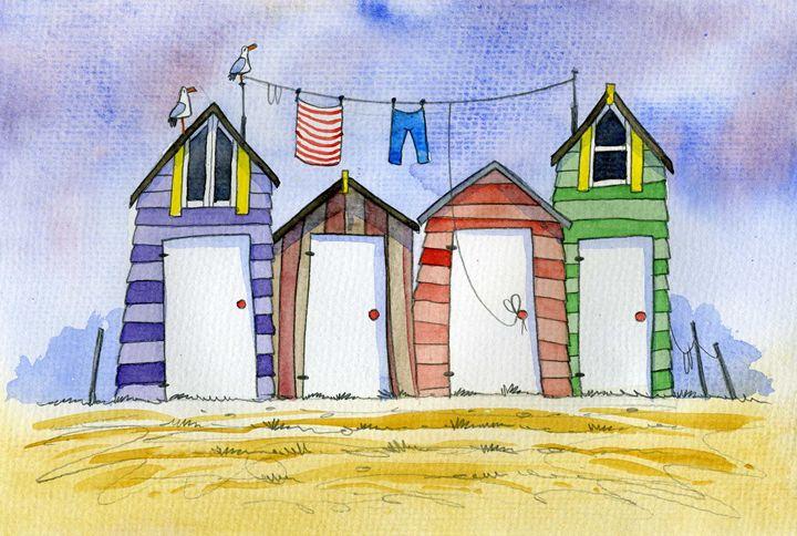 Beach Huts #1 - David Bailey Arts