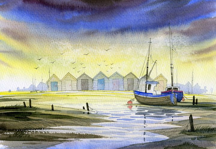Beach Huts #4 - David Bailey Arts