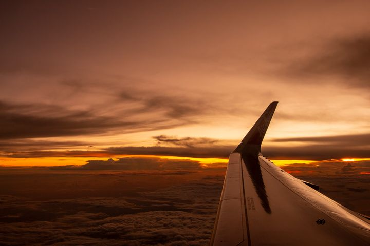 Sunset Sky From Above - Trihand Art