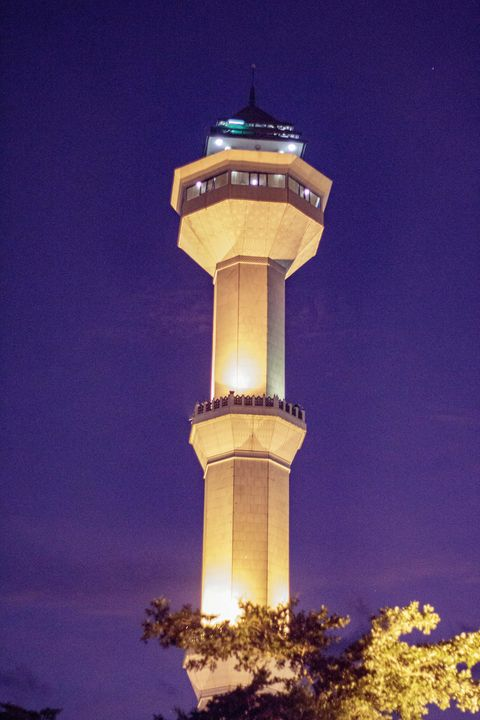 Grand Mosque Tower of Bandung Night - Trihand Art
