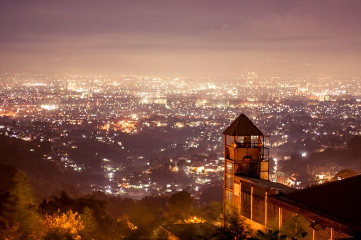 Malam di Atas Kota Bandung, Java - Trihand Art