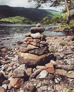 Rock formation on Loch Lomond.