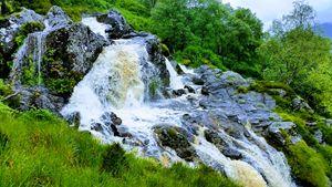 Ben Glais waterfall.