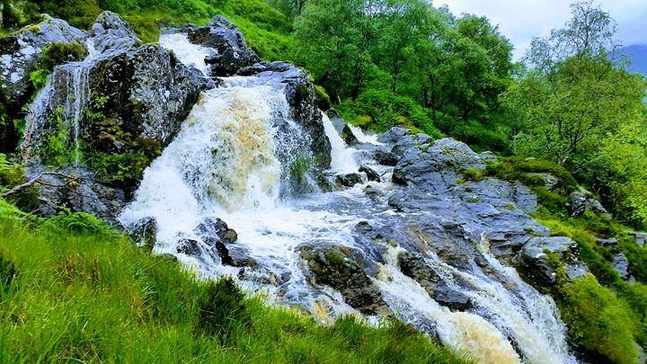 Ben Glais waterfall. - David Travers