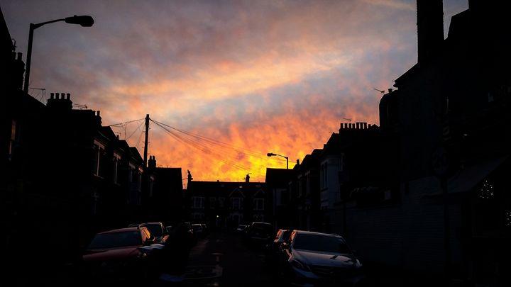Red sky at night. - David Travers