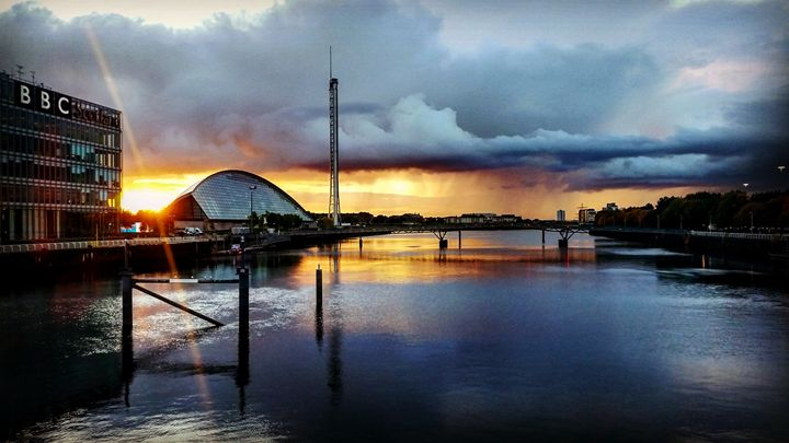 Looking down the River Clyde. - David Travers