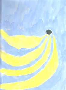 Abstract Bananas Watercolor Painting