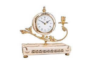 Free style clock with candle holder
