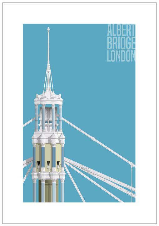 Albert Bridge, London - VectorArchitecture