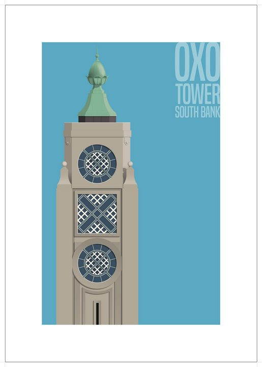 OXO Tower, South Bank, London - VectorArchitecture