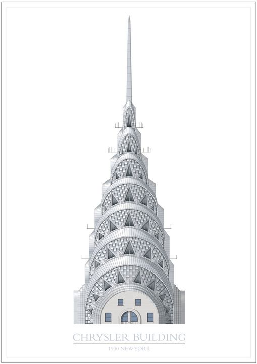 Chrysler Building (spire), New York - VectorArchitecture