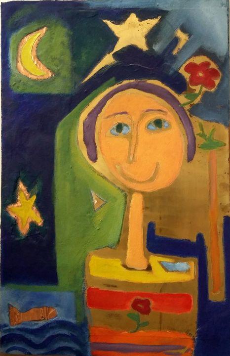 girl among the stars - Asterios Art Lab
