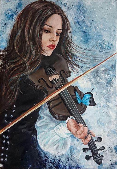 Violinist - Katerina Evgenieva -kikifineart