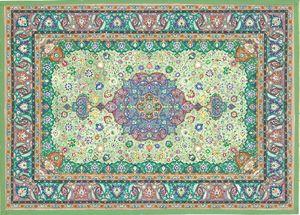 Green Tezhib Floral Art Piece