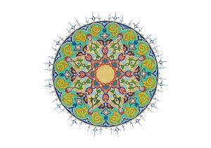 Circular Cyan Tezhib Art