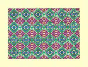 Purple and Green Tezhib Art