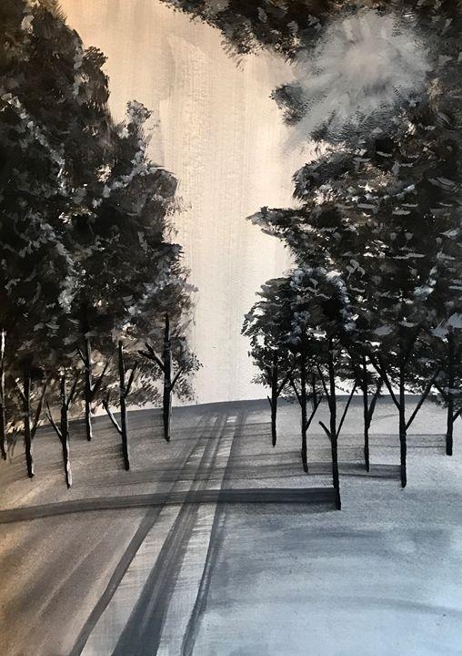 Snowy - Ashton Rose Art