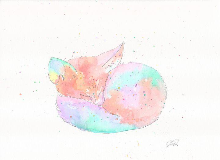 Sleeping Fox - Art by Pax