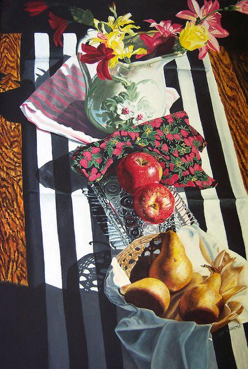 Stripes and Fruit Forever Art - Diane Jorstad's art  studio