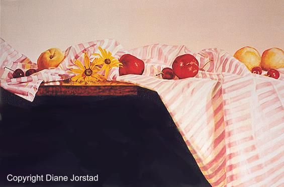 Fruit - Stripes wall art - Diane Jorstad's art  studio
