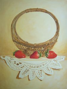 Basket  - Strawberries wall art