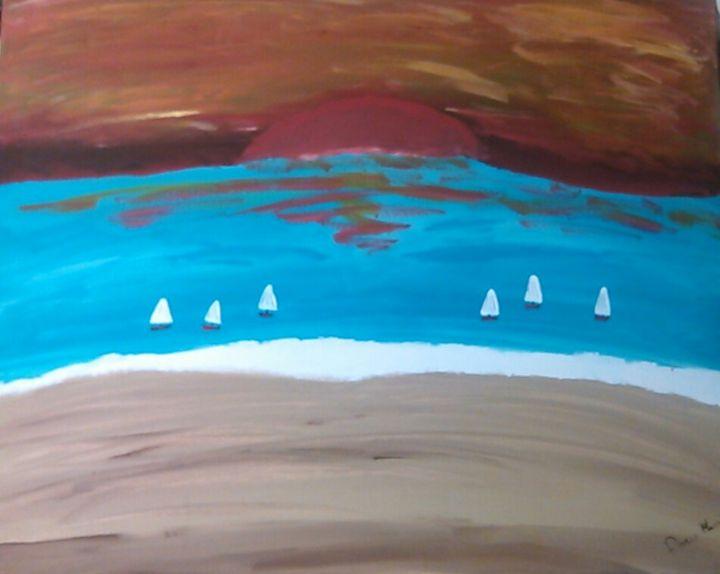 Sailing at Sunset - Arts N Stuff