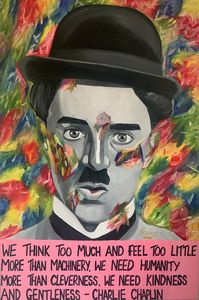 Charlie Chaplin With Quote